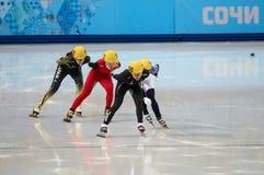 Ladies' 1000 m Heats Short Track Heats Stock Images