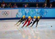 Ladies' 1000 m Heats Short Track Heats Royalty Free Stock Photography
