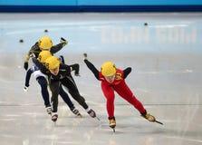 Ladies' 1000 m Heats Short Track Heats Royalty Free Stock Photo