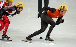 Ladies' 1000 m Heats Short Track Heats Stock Photo