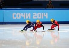 Ladies' 1000 m Heats Short Track Heats Royalty Free Stock Photos