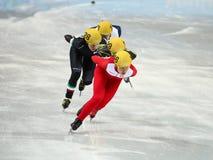 Ladies' 1000 m Heats Short Track Heats. Sochi, RUSSIA - February 18, 2014: Patrycja MALISZEWSKA (POL) No.146 at Ladies' 1000 m Short Track Heats at the Sochi Stock Photo