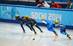 Ladies' 1000 m Heats Short Track Heats Royalty Free Stock Images