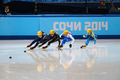 Ladies' 1000 m Heats Short Track Heats Stock Image