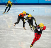 Ladies' 1000 m Heats Short Track Heats. Sochi, RUSSIA - February 18, 2014: Yui SAKAI (JPN) No.131 at Ladies' 1000 m Short Track Heats at the Sochi 2014 Olympic Royalty Free Stock Photo