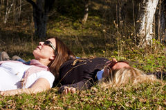 Ladies in the nature stock photography