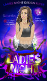 Ladies night, dance party flyer vector Stock Images