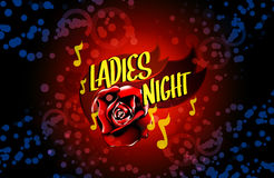 Ladies night flyer vector. Ladies night, dance party flyer vector, eps 10 stock illustration