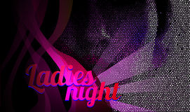 Ladies night flyer vector Royalty Free Stock Photography