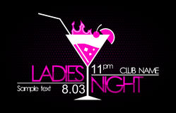 Ladies night. Logo in vector