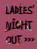 Ladies' Night Out Invitation Royalty Free Stock Photo