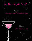 Ladies Night Out Invitation Royalty Free Stock Images