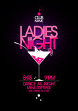 Ladies night party design. Ladies night party design with martini glass Royalty Free Stock Photography