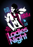 Ladies night party design. Royalty Free Stock Photo