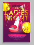Ladies Night Party Flyer, Banner or Template. Royalty Free Stock Images