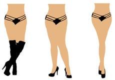Ladies in panties and heels Stock Image