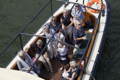 Ladies in a party boat Stock Photos