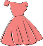Ladies Party Dress Fashion Style Illustration Stock Photography