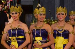 Female Javanese dancers in traditional attire known as Dhodot