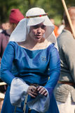 The ladies in period costumes Royalty Free Stock Photo