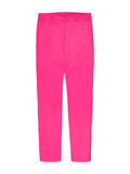 Ladies pink textile trousers isolated on white Royalty Free Stock Photo