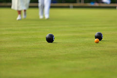 Ladies playing lawn bowls Royalty Free Stock Photo