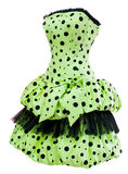 Ladies' polka dot cocktail dress Royalty Free Stock Photo