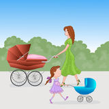 Ladies with prams Stock Images