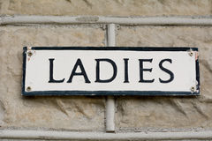 Ladies public toilet sign Stock Photography