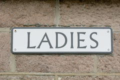 Ladies public toilet sign Royalty Free Stock Photography