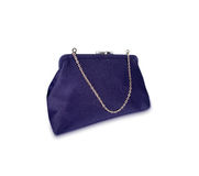 Ladies purple  purse isolated Stock Photography