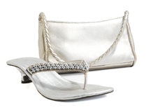Ladies purse & shoes Royalty Free Stock Photography