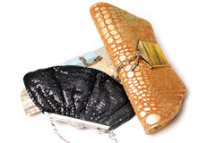 Ladies purses Stock Image