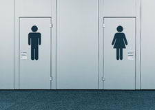 Ladies room and mens room Royalty Free Stock Photography
