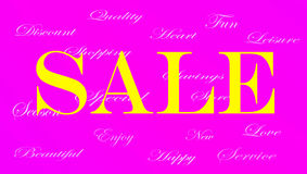 Ladies Sale banner ad stock illustration