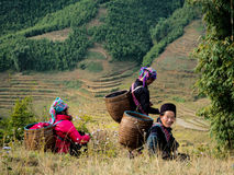 Ladies in Sapa. Hill Ladies in Sapa Royalty Free Stock Image