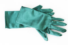 Ladies satin gloves Royalty Free Stock Photo