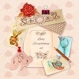 Ladies Scrapbooking Set Stock Images