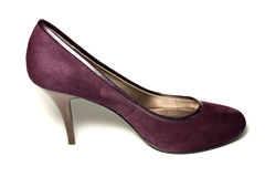 Ladies shoe. A maroon ladies high heeled shoe Stock Photography
