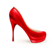 Ladies shoe. On the white Stock Images