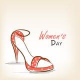 Ladies shoe for International Women's Day celebration. Royalty Free Stock Image