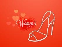 Ladies shoe for International Women's Day celebration. Royalty Free Stock Photos