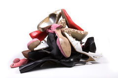 Ladies Shoe Mountain Royalty Free Stock Photos