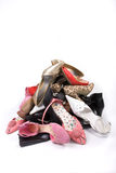 Ladies Shoe Mountain Stock Photography