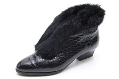 Ladies shoes with fur Royalty Free Stock Photos