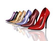 Ladies shoes royalty free illustration