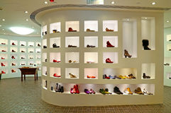 Ladies shoes store Royalty Free Stock Photo
