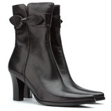 Ladies short black boots Stock Image