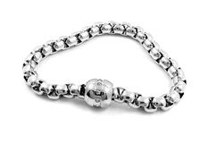 Ladies silver bracelet - Stainless Steel Royalty Free Stock Images
