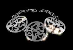 Ladies silver bracelet - Stainless Steel Royalty Free Stock Photos